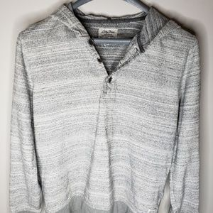 Lucky Brand Mens Large Grey Button Hoodie